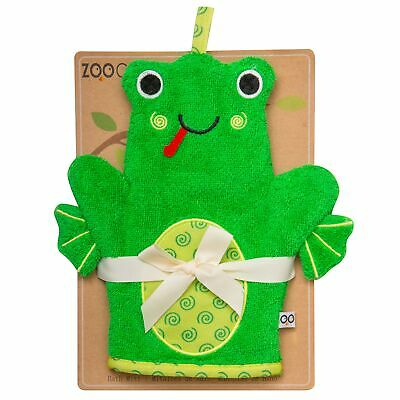 Zoocchini From Birth Newborn Baby Child Bath Mitts - Flippy the Frog