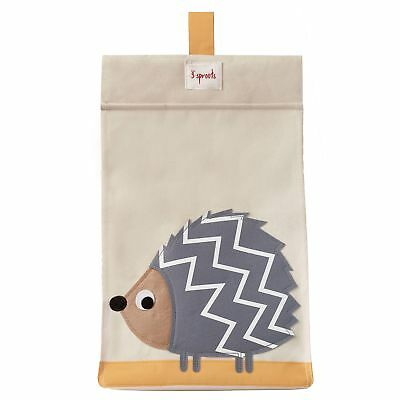 3 Sprouts Baby / Child Nappy Stacker Stacking Storage - Grey Hedgehog