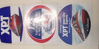 Train XPT State Rail Authority Original Pre Opening 3 x Stickers 1980