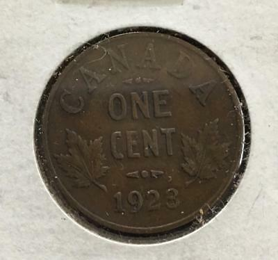 1923 Canada 1 Cent Better Grade Key Date Great Coin