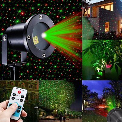 Laser Projector R&G Light Outdoor LED Waterproof Garden Party Christmas Lights