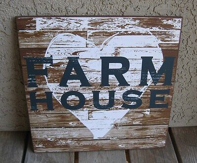 HEART Farm House Wood Wall SIGN*Primitive/French Country Urban Farmhouse Decor