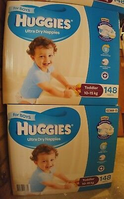 For Your 10 to 15 Kg Toddler Boys - BULK 148 Nappies Original Packaging