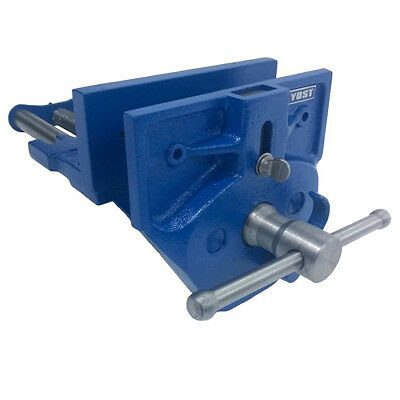 Blue Wood Work Vise 30K PSI 7in Bench Accessory Professional Cast Iron Tool New