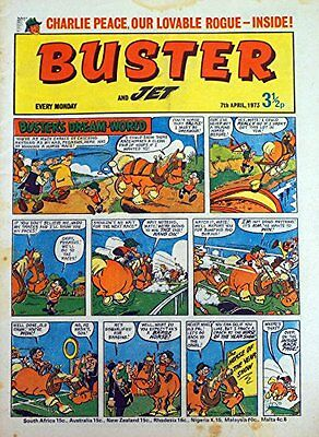 Vintage Buster And Jet Weekly Boys And Girls Comic from 7th April 1973 [Comic] [
