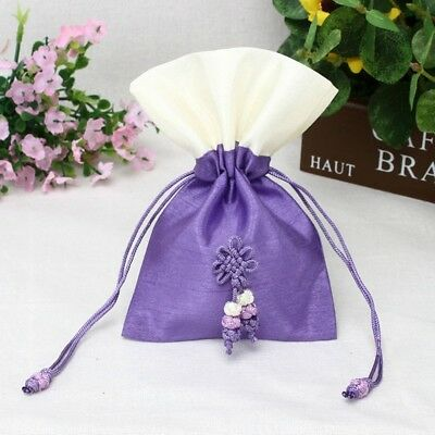 (18cm  x 23cm , Royal Purple) - TooGet Sachet Gift Bags Empty Bags Ice Silk