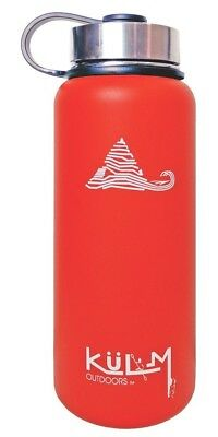 (Red) - KuLM Outdoors 950ml Vacuum Insulated Water Bottle With Stainless Steel