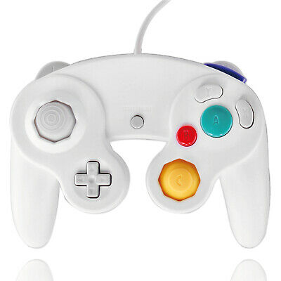 GameCube Controller Nintendo GC and Wii Compatible NGC Gaming Joystick, White