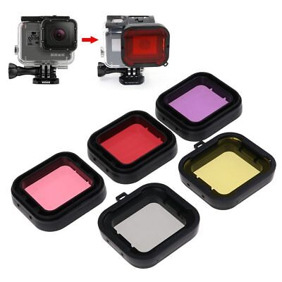 5 x Colour Lens Filter Kit camera Underwater Diving Snorkel for GoPro HERO 3+/4