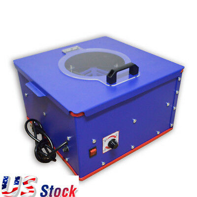 US Stock Blue Pad Printing Electric Emulsion Coating Machine Steel Plate 110V