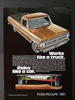 Vintage 1972 Ad (Odl5)~Ford Pickup Truck For '72