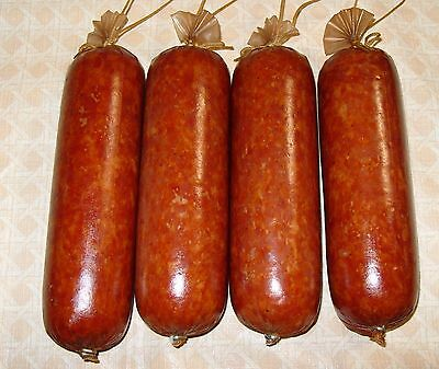 Collagen Sausage Casings for Cooked and Smoked, 25 pc of 45mm X 24in for 50 lb