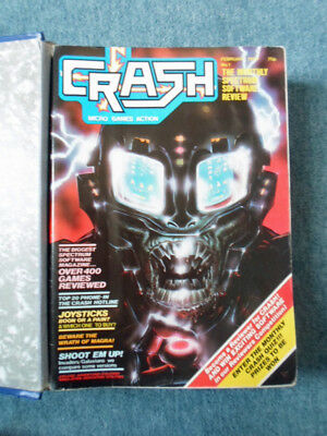 ZX Spectrum CRASH Magazine First Year 12 Issues With Binder 1984+ *Signed*