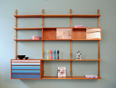 60er CADO TEAK REGALSYSTEM WANDREGAL POUL CADOVIUS 60s WALL UNIT SHELF SYSTEM