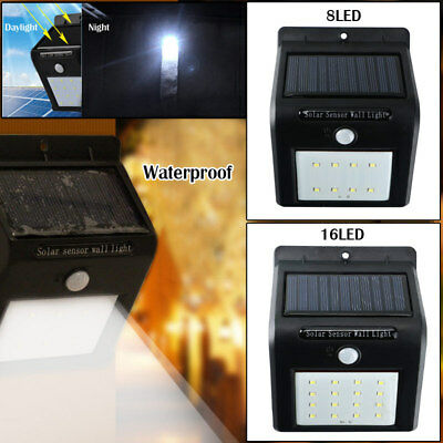 2pc Outdoor Waterproof Solar PIR Motion Sensor LED Wall Light Garden Lamp New