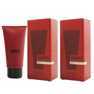 Hugo Boss Red 2 x 75 ml Aftershave Balm After Shave Balsam ASB Set