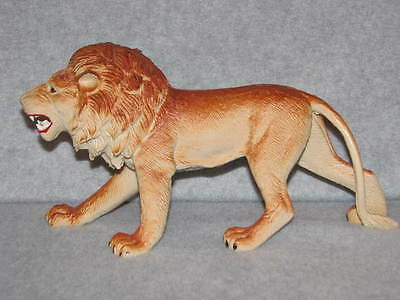 """Imperial 1985 Made In Hong Kong Hard Plastic Toy Lion Lg 10"""" Long 5.5"""" Tall EUC"""