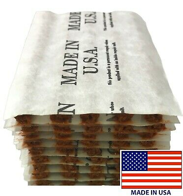 """50 Piece Brown 4"""" Tire Plug Insert String Tubeless Tyre Repair Seals USA MADE"""