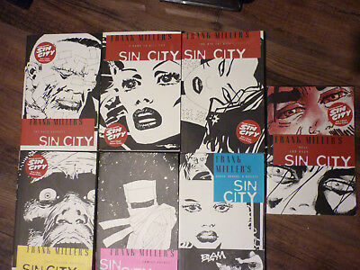 Frank Miller's Sin City Series (7 books) 2005. Very Good (VG) Condition