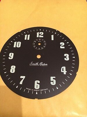 SMITHS BLACK CLOCK DIAL/ Face X 1 VINTAGE OLD NEW STOCK