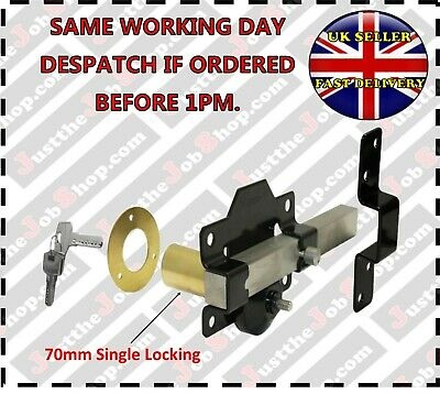 Perry High Security Garden Gate/Shed/Door Lock 70mm Long Throw Keyed Alike