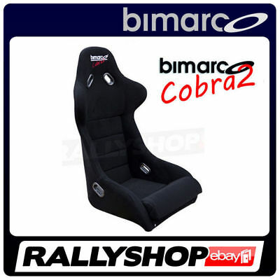 Racing Seat BIMARCO COBRA II BLACK VELOUR Rally Race Sport CHEAP FAST DELIVERY