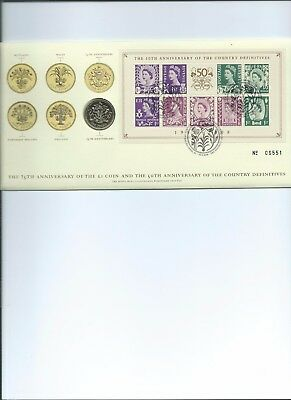 £2 Coin  2008 On First Day Cover  Country Definitives