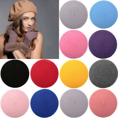 Unisex Men Women Wool Warm Beret Beanie Hat Cap French Style New Fashion