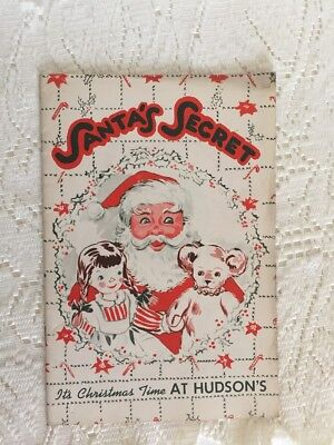 J. L. Hudson Christmas 12th Fl Santa Booklet 1941