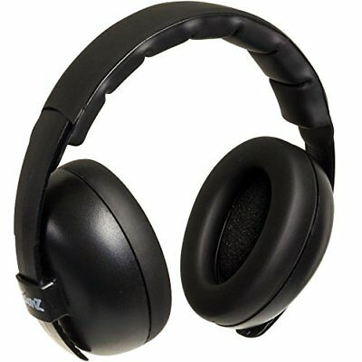 Baby Banz Infant Hearing Protection Sound Blocking Earmuffs Black Safety Health
