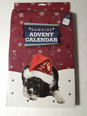 Advent Calendar For Dogs 24 Bone Shaped Rawhide Munchy Treats Pet Christmas Gift