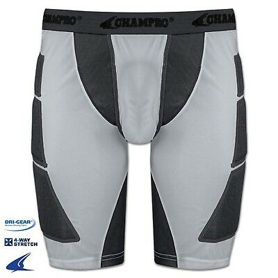 (XX-Large, Grey) - Champro Mens ADULT Baseball Softball Sliding Shorts BPS12