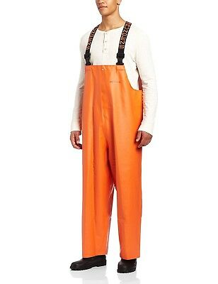 (3X-Large, Orange) - Clipper Bib Pant. Grundens. Delivery is Free