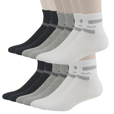 (12-Pairs Multicoloured 1) - 3street Men's Athletic Cotton Comfort Ankle Low