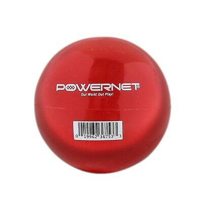 (16 Oz - Red) - PowerNet 8.1cm Weighted Hitting and Batting Training Ball (6