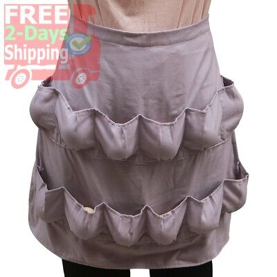 Hense Creative Egg Apron with 12 Pockets, Perfect for Farmer House-hold Clever H
