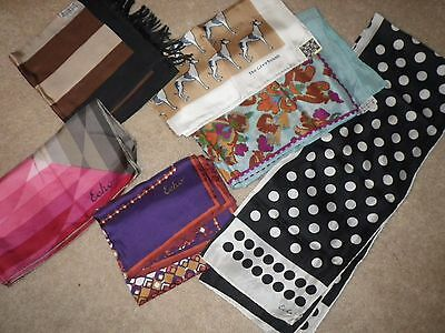 HARD TO FIND! RARE! VINTAGE! Echo Brand Scarves - Lot of 6