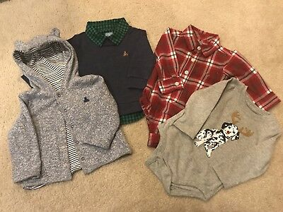 Baby Gap Boys Fall/Winter Lot Plaid Button Down Holiday Christmas 6-12 Months