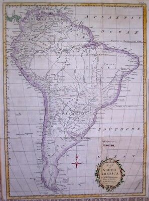 1777  Large Kitchin Map of South America