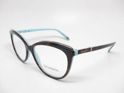 TIFFANY   CO TF 2147-B 8134 Havana   Blue Eyeglasses 2147B Rx-able ... 98b66da348
