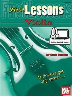 Mel Bay First Lessons Violin (Book + Online Audio/Video)