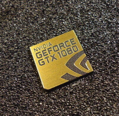 Nvidia GEFORCE GTX 1080 PC Logo Label Decal Case Sticker Badge GOLD [427e]