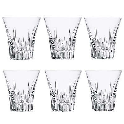 RCR Fluente Italian Crystal Whiskey Whisky Tumblers Glasses 310ml 9.7cm SET OF 6