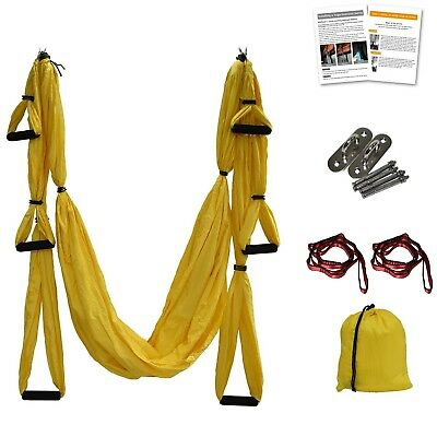 (Yellow) - Aerial Yoga Swing - Anti-Gravity Yoga Hammock Swing Straps