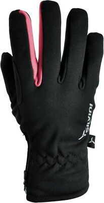(Medium, Black-Punch) - Silvini Women's Trelca Softshell Gloves, Womens, TRELCA