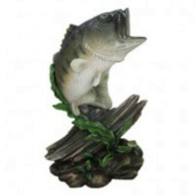 NEW in Box Nice Size BASS Bust 10 inches high resin standing statue