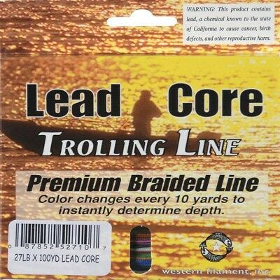 (27) - TUF LINE Western Filament Lead Core Trolling Line. Shipping Included