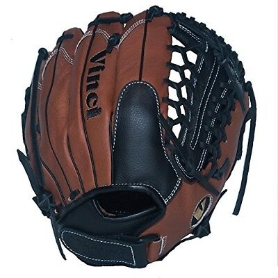 Vinci Fortus 30cm Softball/Baseball Glove Brown/Black Right Handed Thrower
