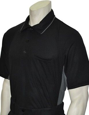 (Medium, Black/Charcoal) - Smitty Major League Style Umpire Shirt -