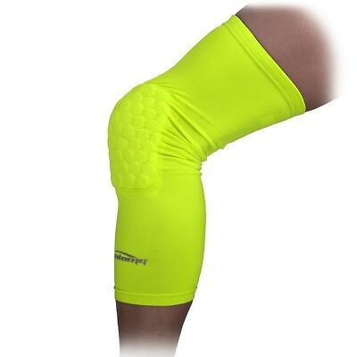 (X-Large, Fluorescent Green) - COOLOMG Pad Crash Proof Basketball Leg Knee